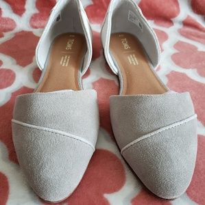TOMS Jutti D'orsay drizzle grey US 9 - fits 8.5